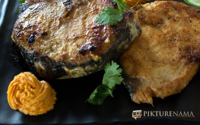 Durga Puja 2015 – Nabami and grilled fish with red capsicum butter