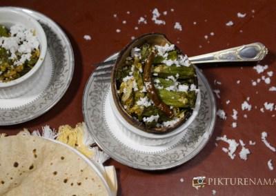 Aam Kasundi Bhindi or Okra in mango mustard sauce by Pikturenama 9