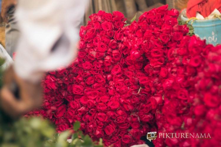 Mullick Ghat flower market Kolkata 1
