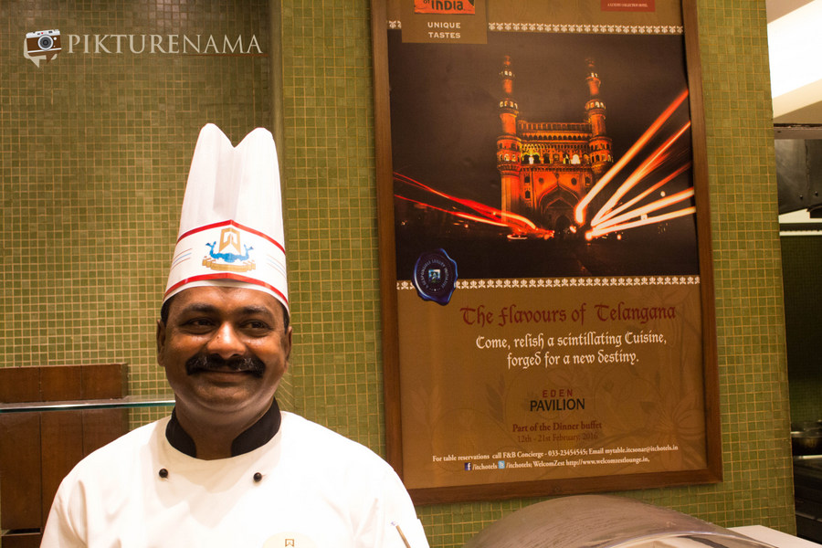 Chef Sakala Sankara at Telangana Food Festival at ITC Sonar Kolkata