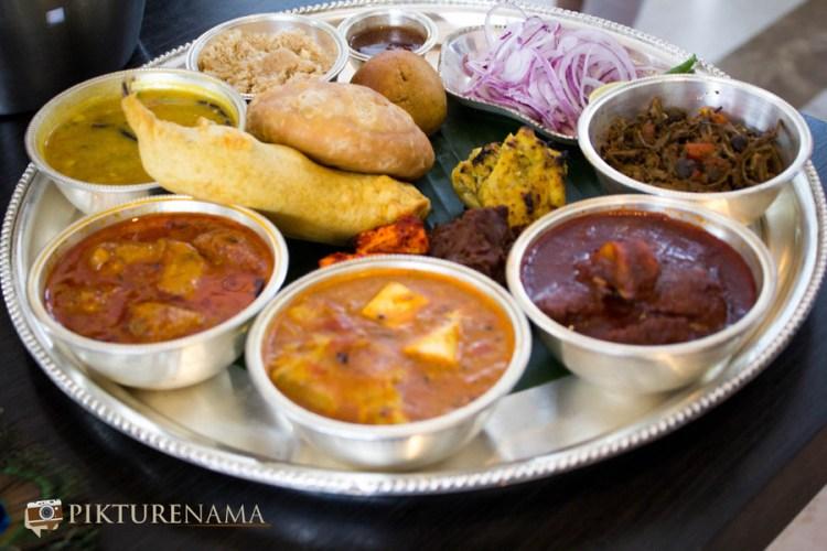 The full plater with some yummy food Jodhpuri Food festival at Novotel Kolkata