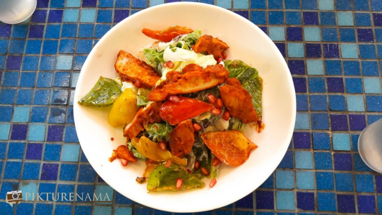 Spiced pepper and chicken salad at German Bakery Pune