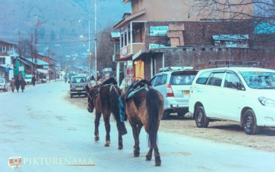 Pahalgam – As evening sets in the small town