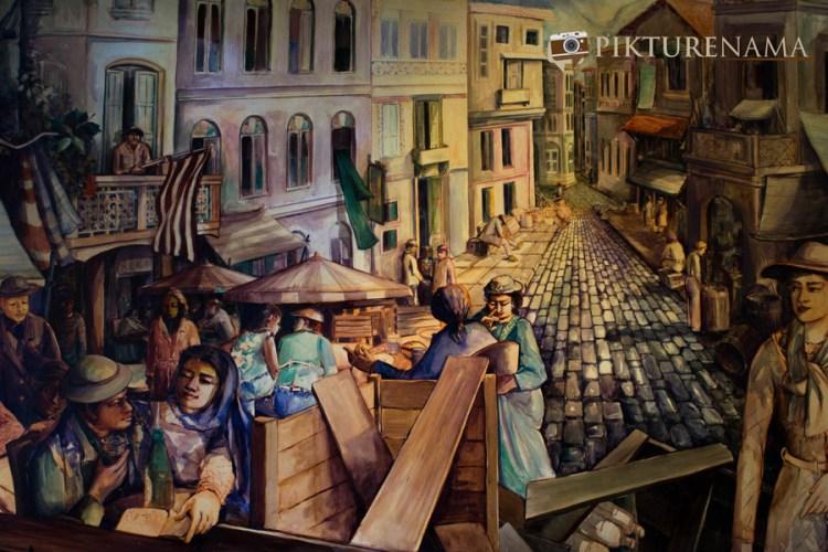 Wall paintings at Barcelos Kolkata