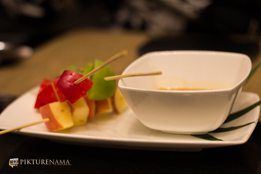 Toffee fondue Pan Asian ITC Sonar Kolkata