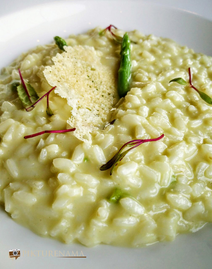 Italy on a plate Asparagus risotto