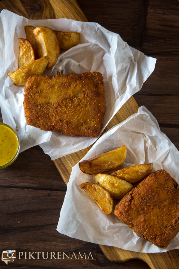 kolkata style fish fry with cheese - 2