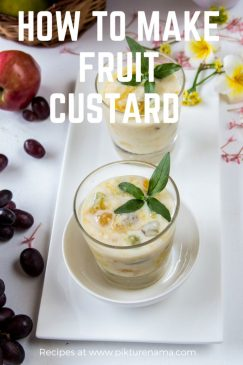 Fruit custard
