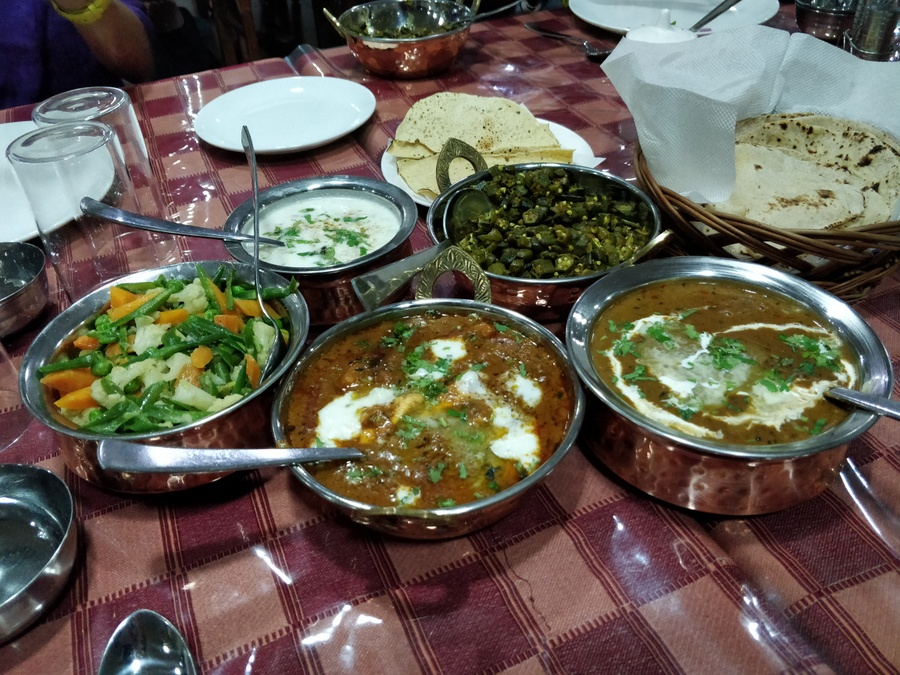 My Garhwali food sojourn Ganga resort table