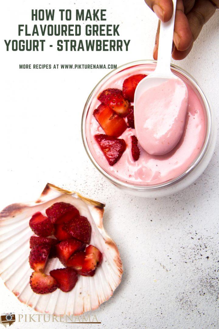 Strawberry flavoured Greek yogurt -1