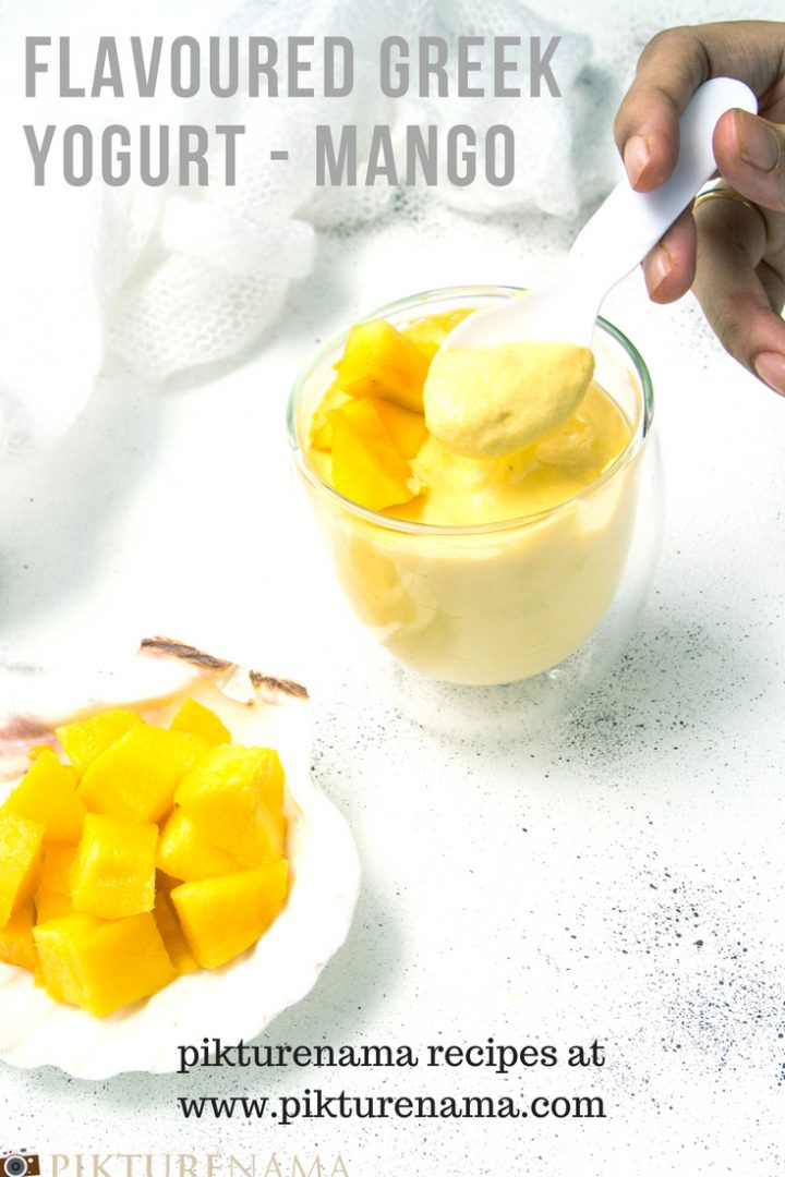 Mango flavoured greek yogurt