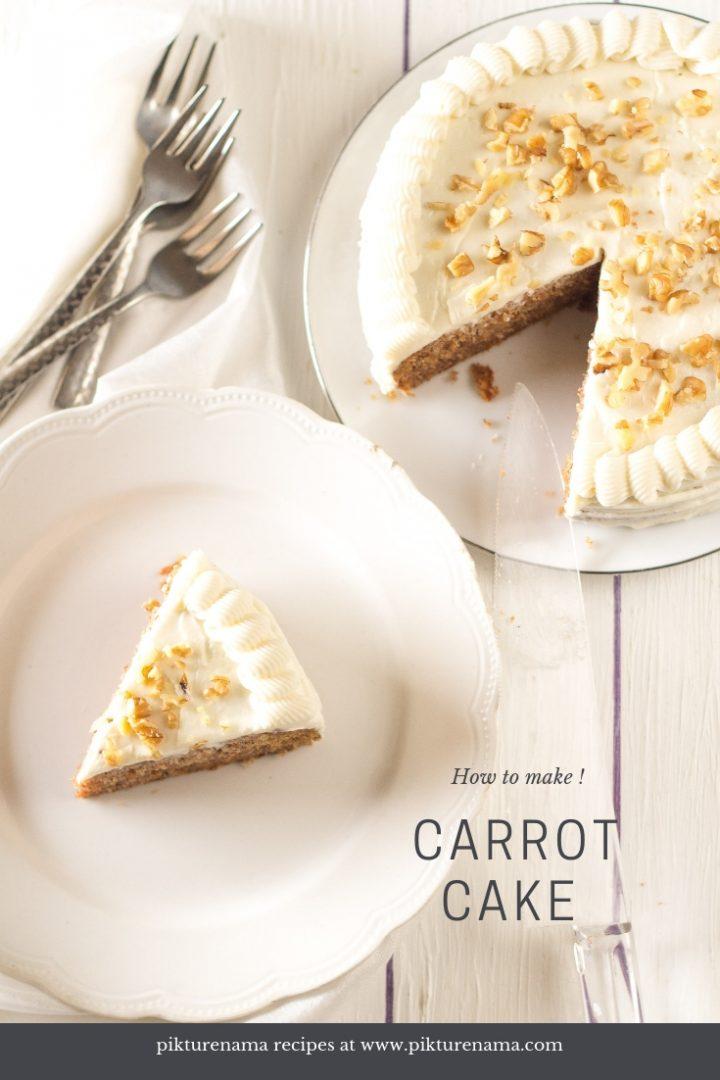 How ro make carrot cake - pinterest