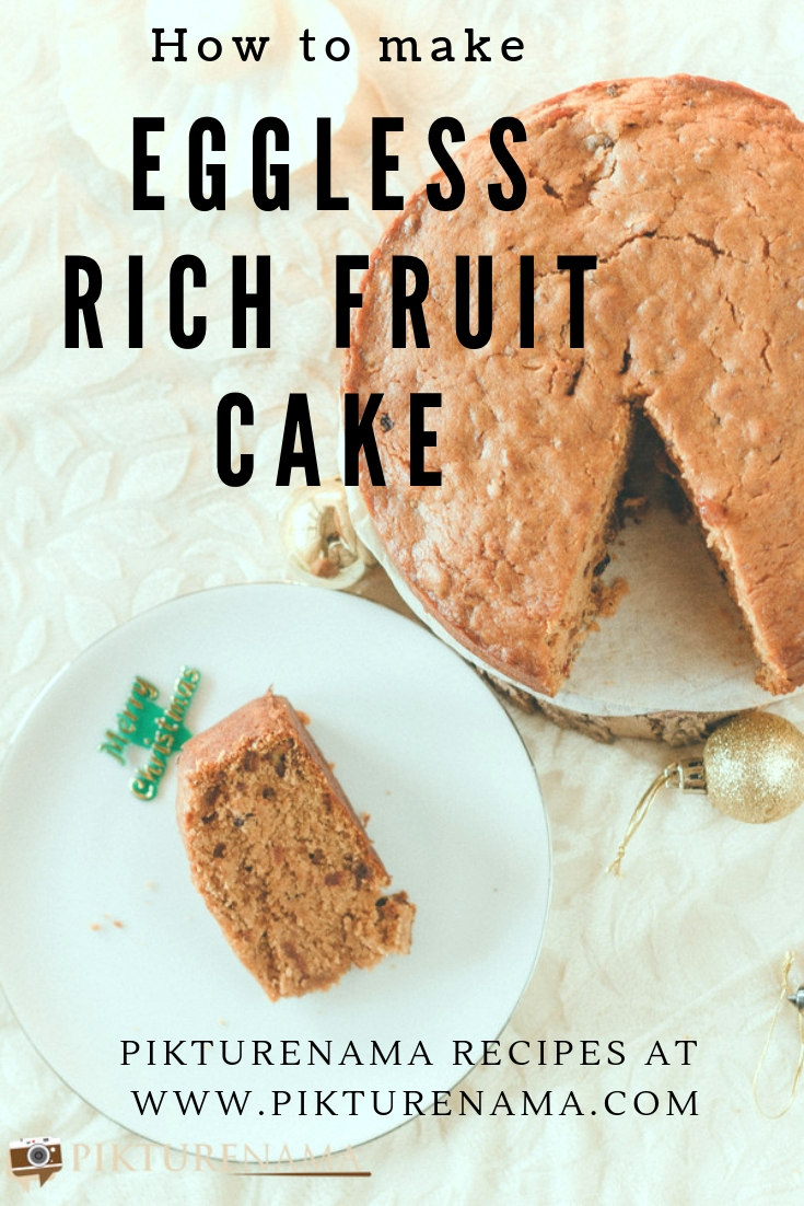 Eggless rich fruit cake pinterest - 3