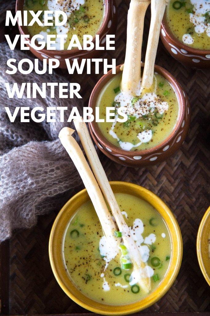 Mixed vegetable soup pinterest - 1
