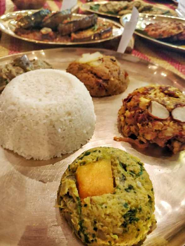 Bangladeshi cuisine by Nayana Afroz at Aaheli Kolkata A typical thali