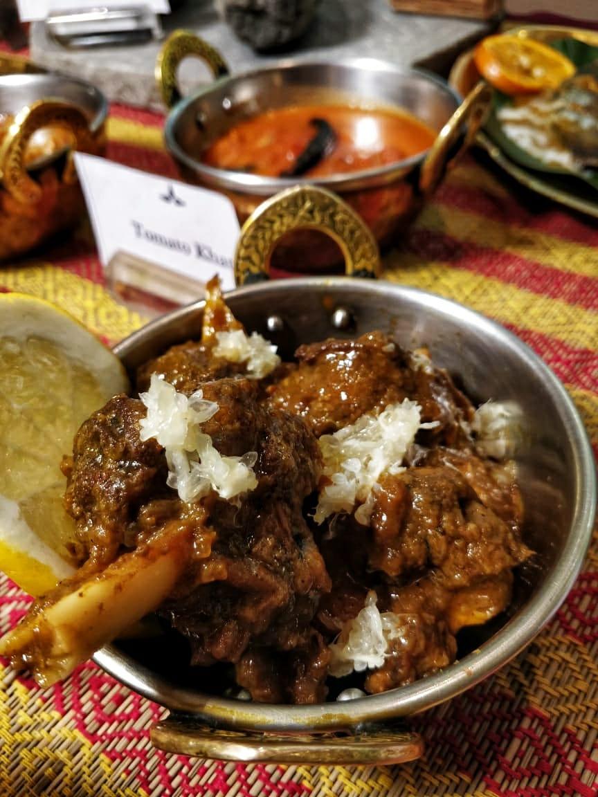 Bangladeshi cuisine by Nayana Afroz at Aaheli Kolkata Shatkora Chicken