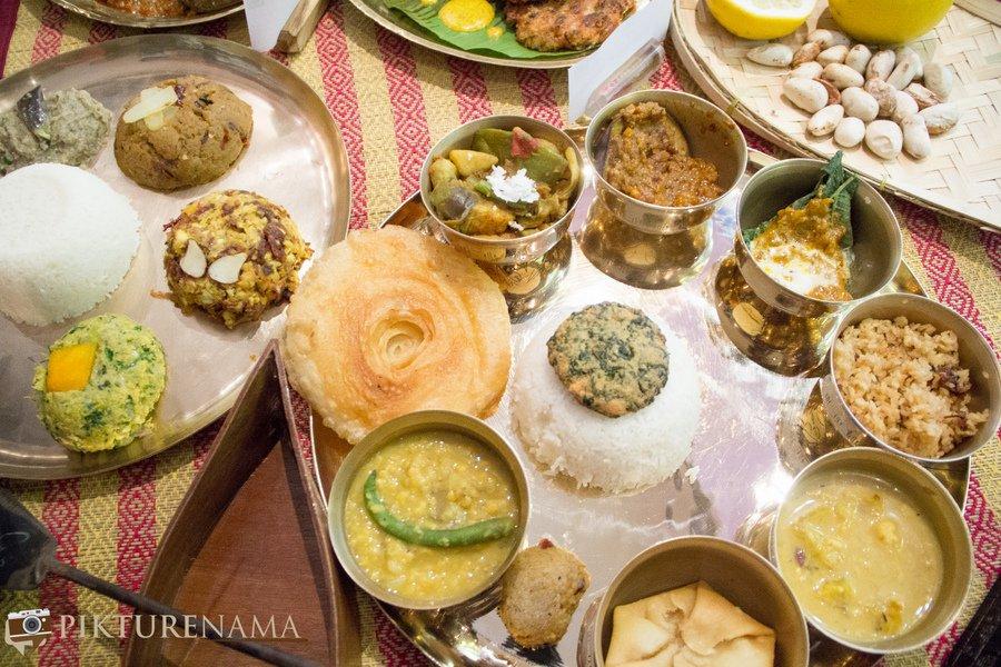 Bangladeshi cuisine by Nayana Afroz at Aaheli Kolkata the spread