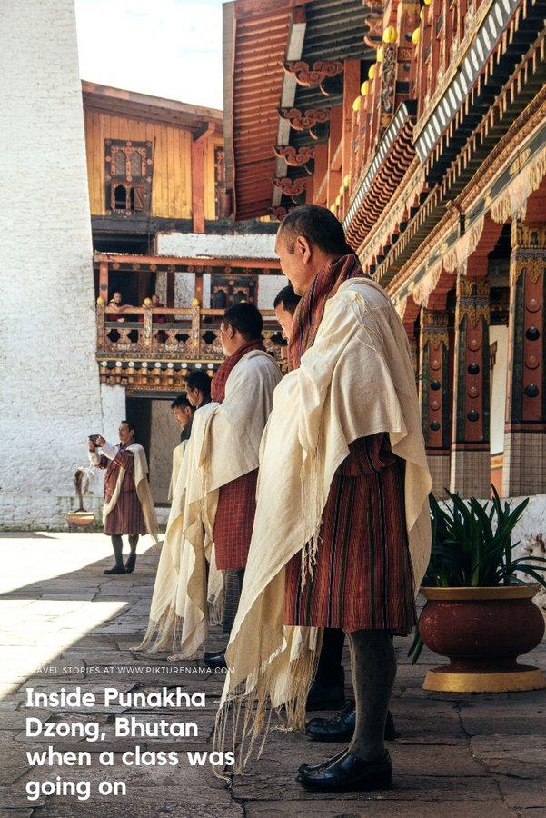 Inside Punakha Dzong pinterest