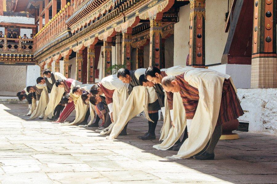 Inside Punakha Dzong Bhutan - 16