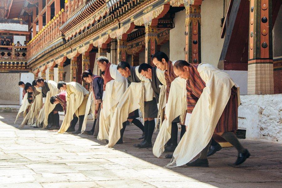Inside Punakha Dzong Bhutan - 17