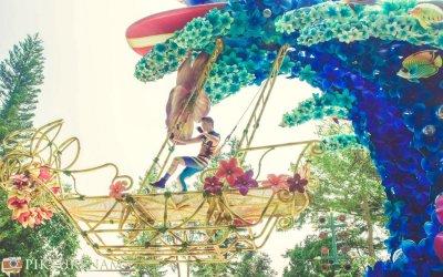 Flights of Fantasy in Disneyland Hong Kong transports you to a dreamland