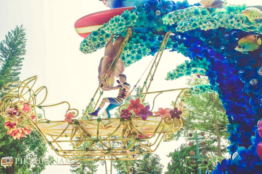 Flights of Fantasy in Disneyland Hong Kong transports you to a dreamland