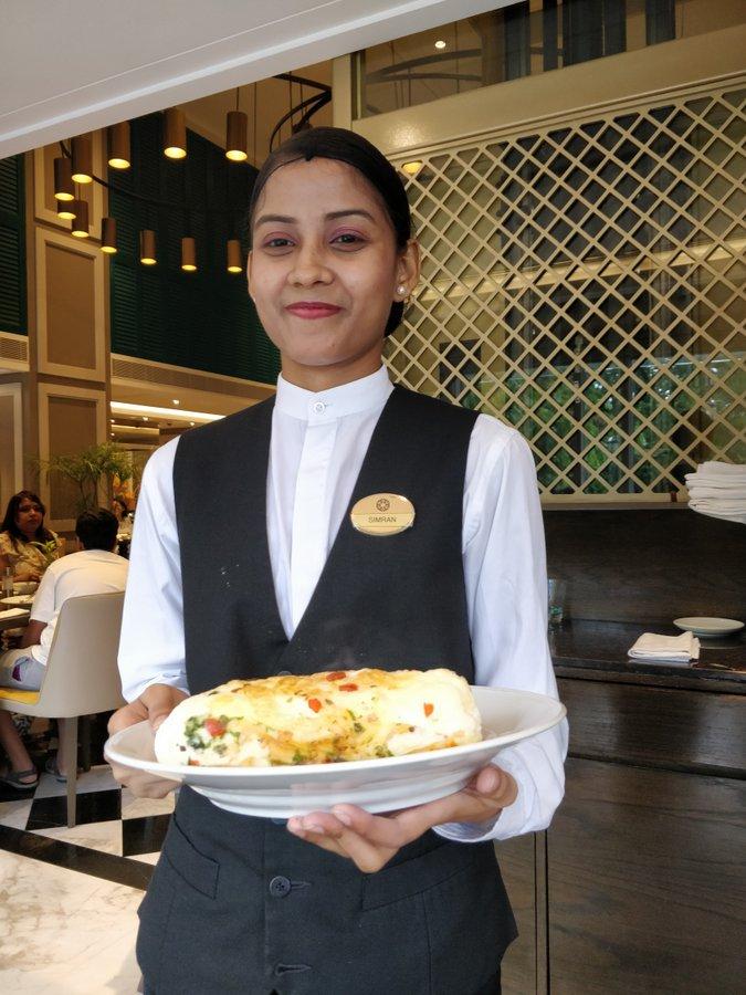 Egg Soufflet Omelette in Breakfast