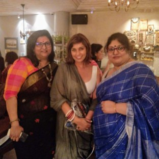 With the dazzling Lisa ray