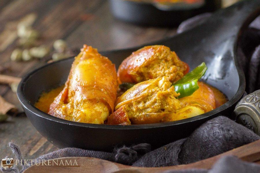 Chingri Malakari / Prawn Malai Curry - 3