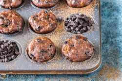 chocolate banana muffins - 1