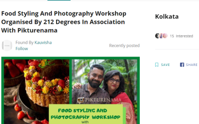 Food Styling and Photography workshop covered by LBB