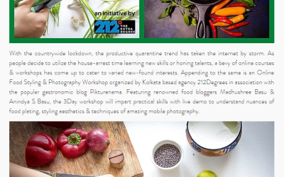 Food Styling and Photography workshop covered by The Kolkata Buzz