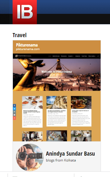 Indiblogger - Travel Blogger