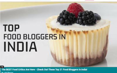 Top food bloggers in India by Magic Pin