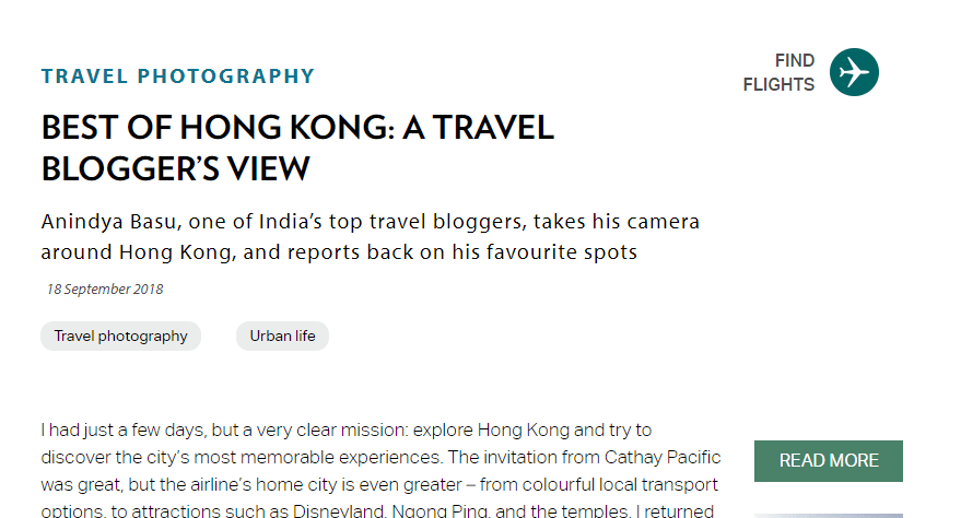 Discovery Cathay Pacific online Magazine Hong Kong