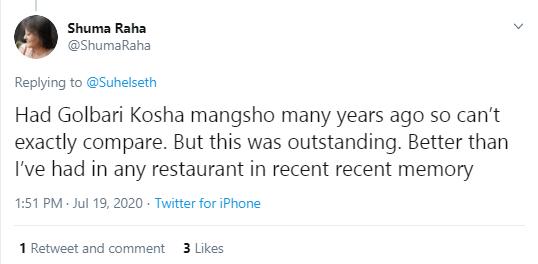 Anindya's Kosha Mangsho twitter - 2