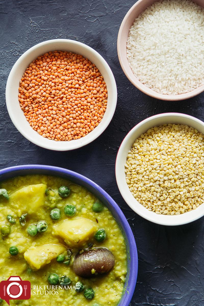 Easy way to make Masoor dal Khichuri Bengali way