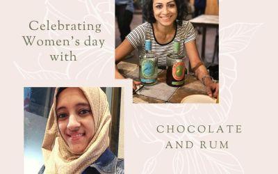 Kasturi Banerjee and Rushdah Humaira creating new Rum and Chocolate