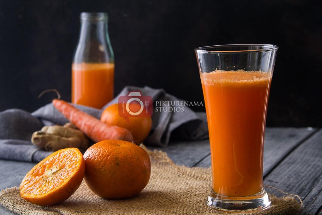 orange carrot ginger smoothie - 2