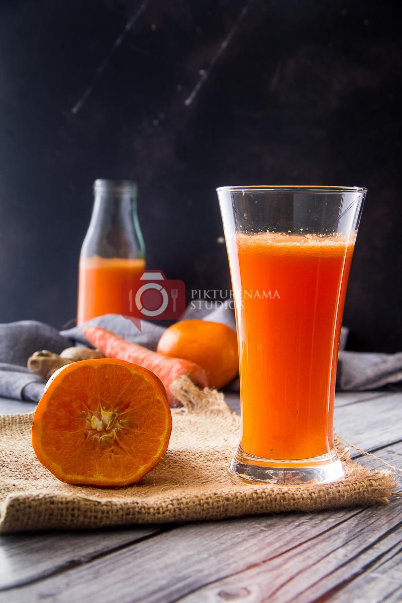 orange carrot ginger smoothie - 22