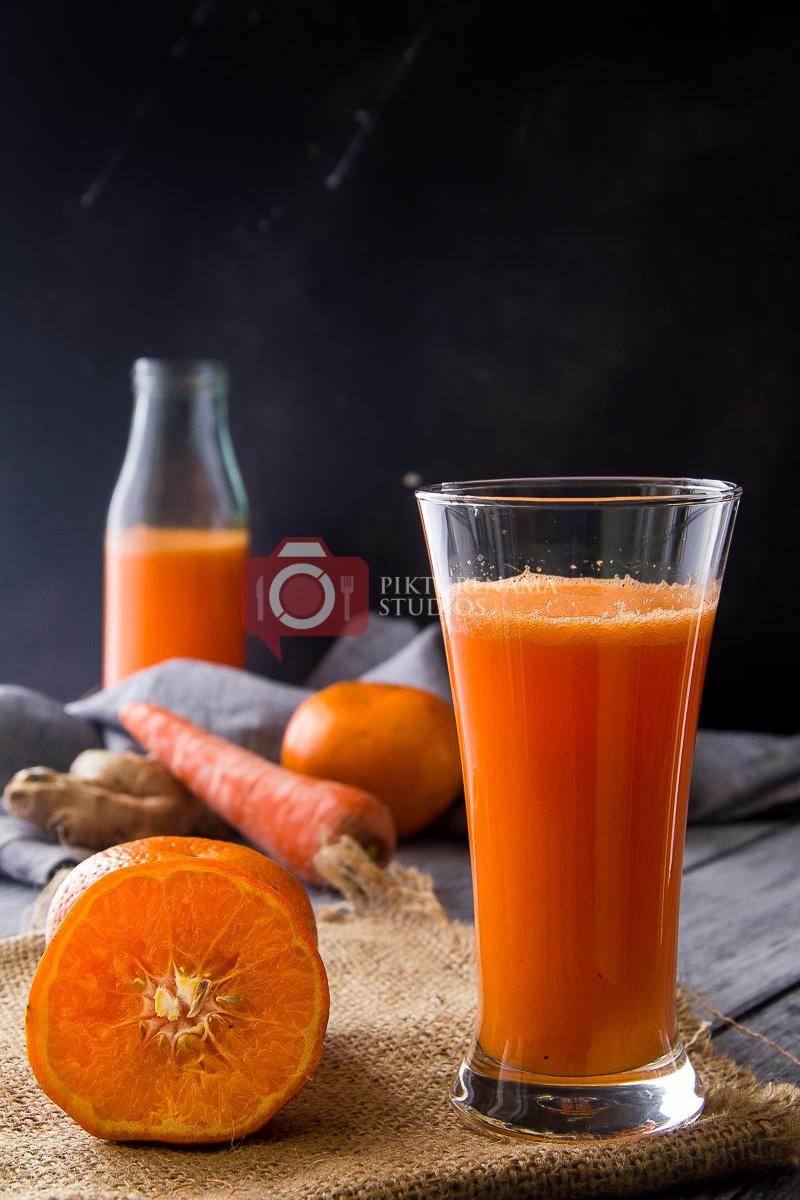 orange carrot ginger smoothie - 33