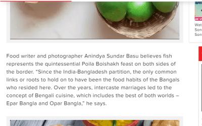 Anindya Sundar Basu on Poila Baishakh food in Cal Times