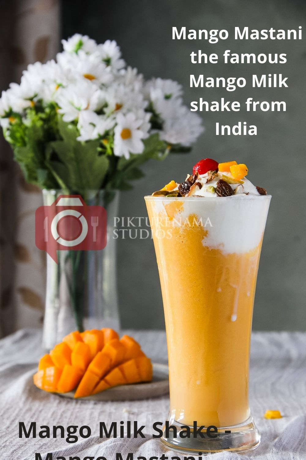 Mango Mastani the cool Summer drink with Mango for Pinterest - 2