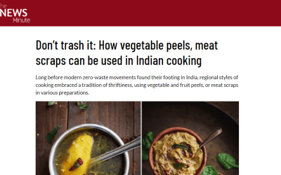 Madhushree Basu Roy on use of Vegetable peels in Bengali cooking at The News Minute