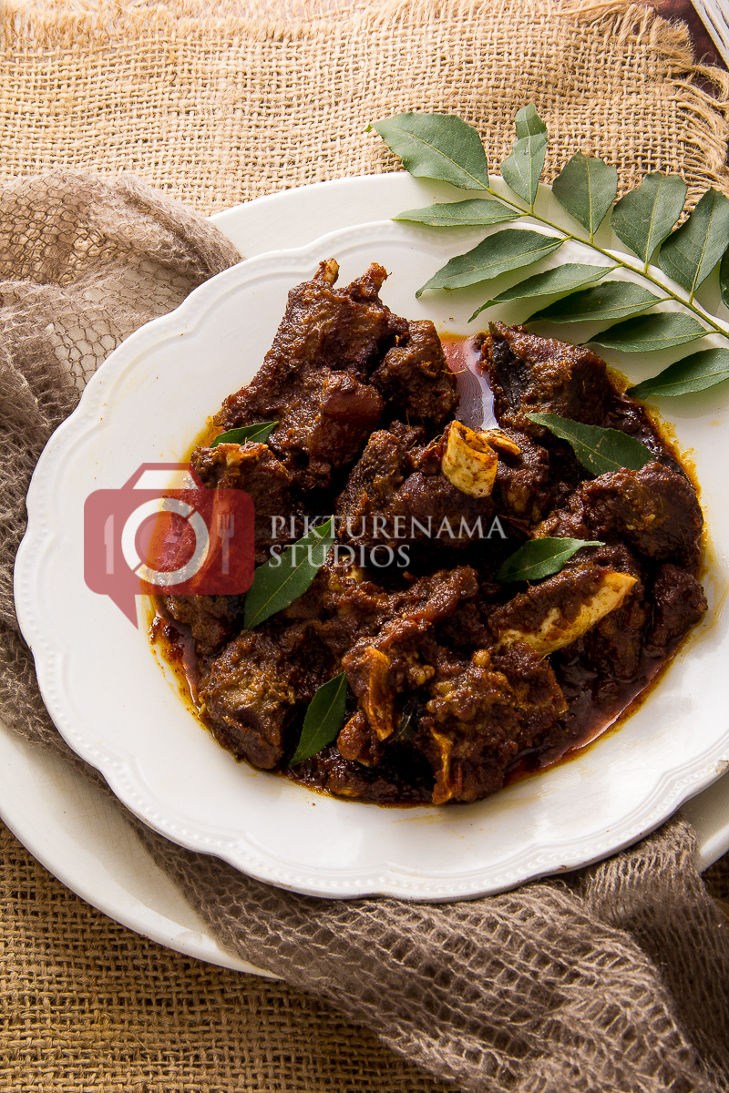 Kerala Mutton Roast - Mutton Ularthiyathu Recipe - 2