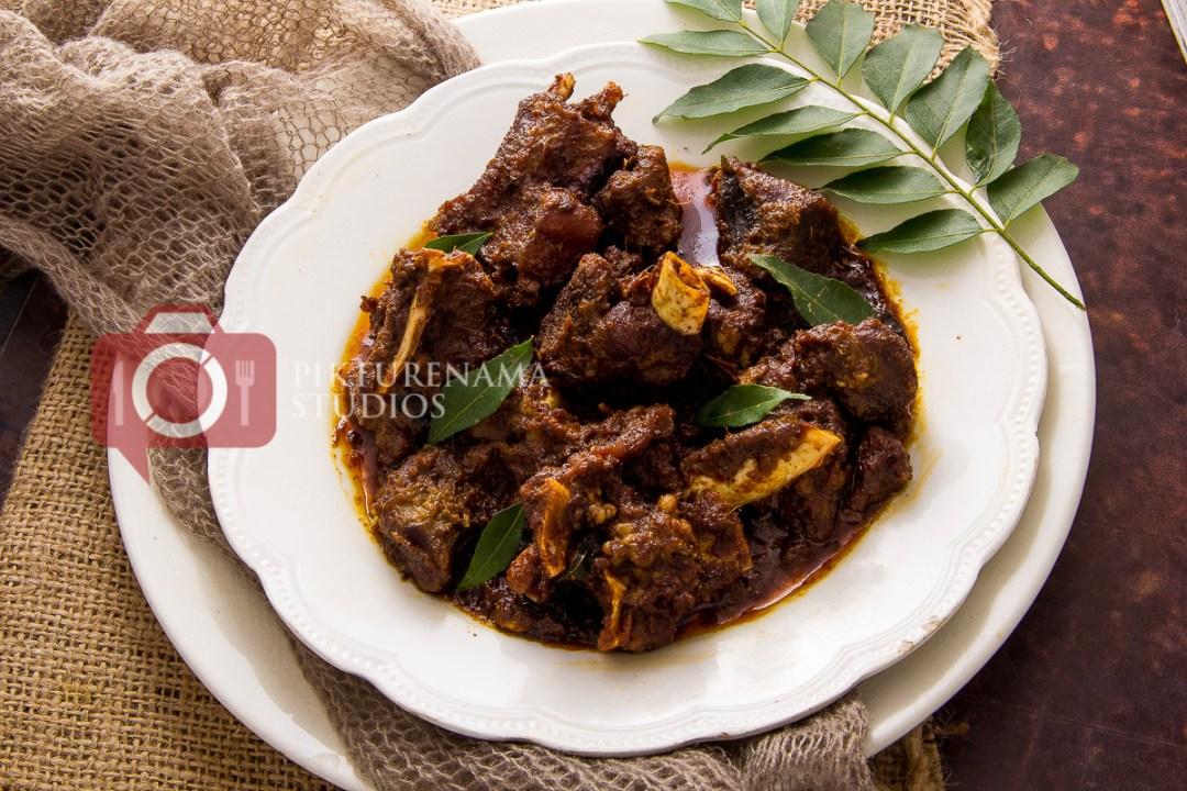 Kerala Mutton Roast - Mutton Ularthiyathu Recipe - 3