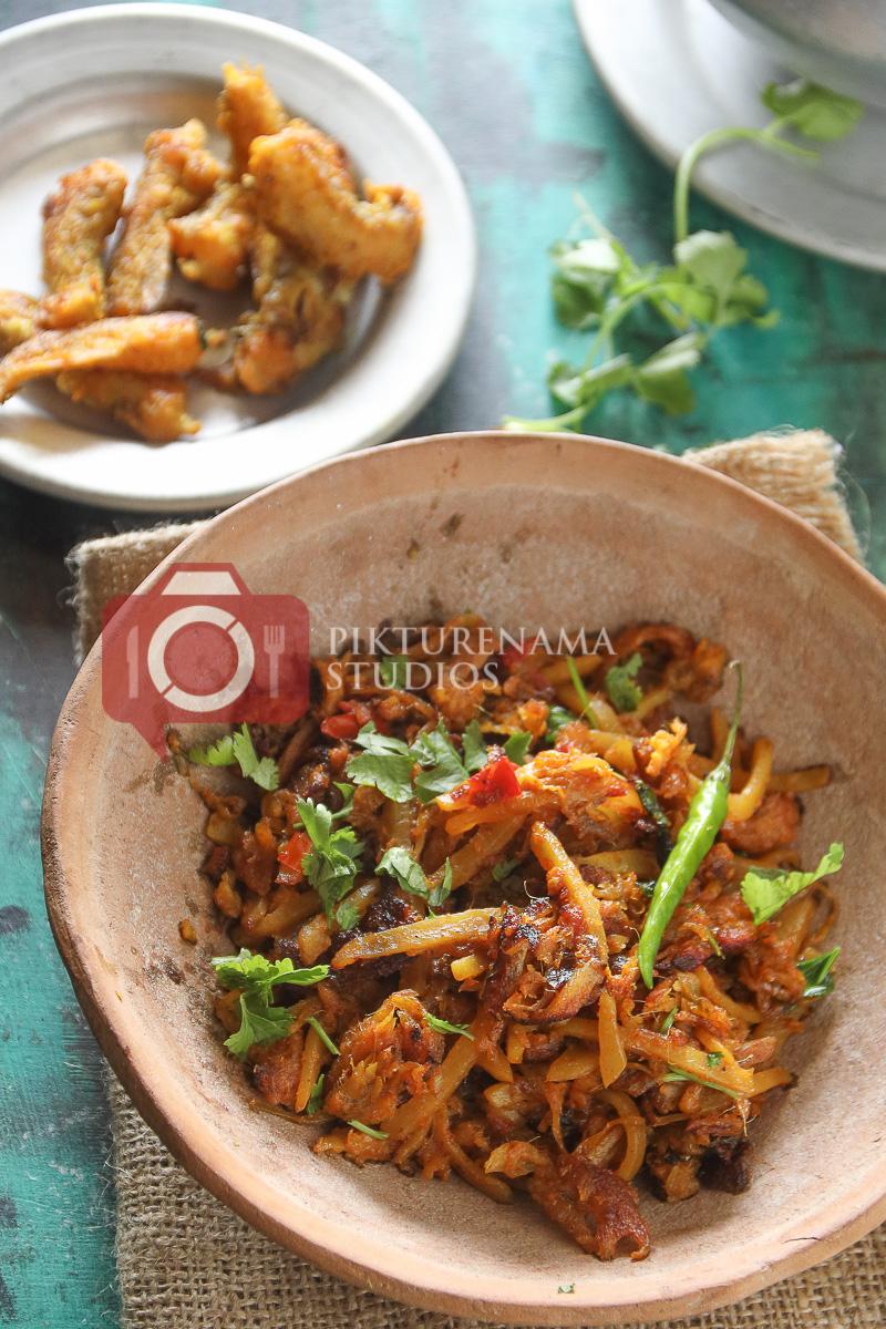 Bombay Duck Stir Fry / bengali loitte macher Jhuri - 4