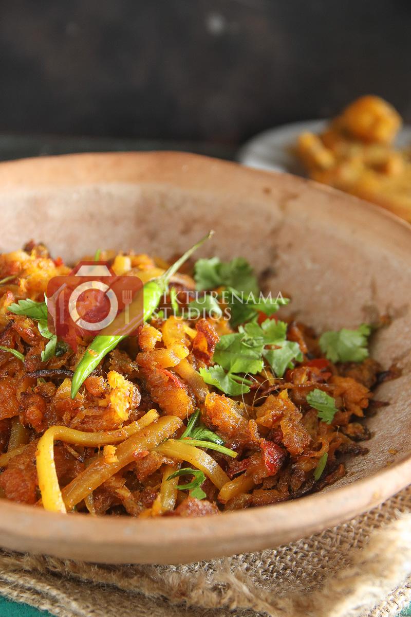 Bombay Duck Stir Fry / bengali loitte macher Jhuri - 7
