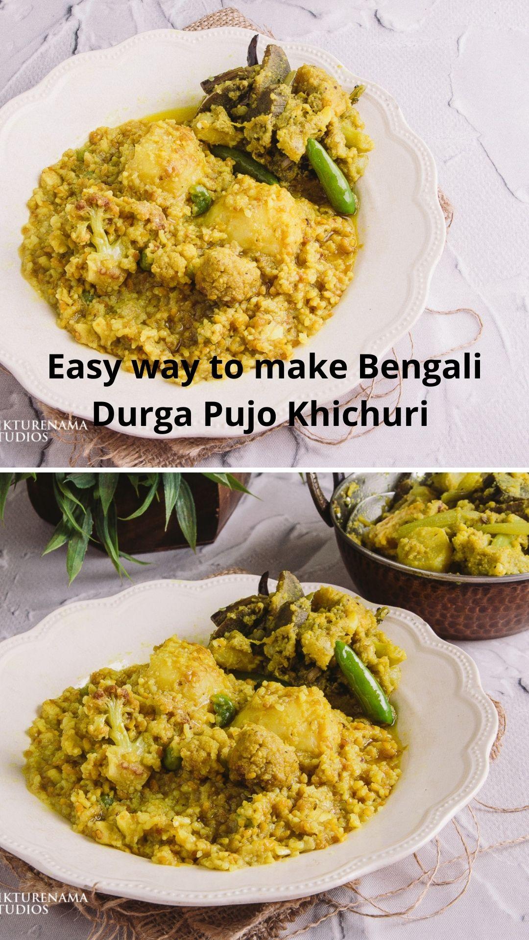 Easy way to make Bengali Bhoger Khichuri - 3