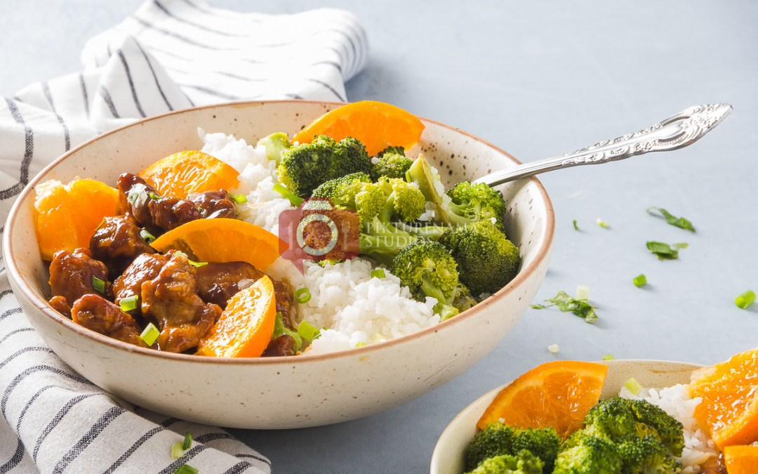 Orange Chicken Rice Bowl- The Quick-fix for Weeknight Dinner easy way to make at home